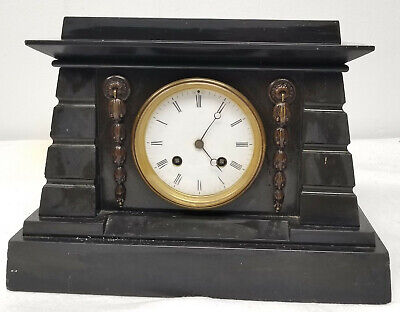 £503.47 • Buy Antique Marble Slate Egyptian Revival Style Mantle Clock Jacobs And Lucas