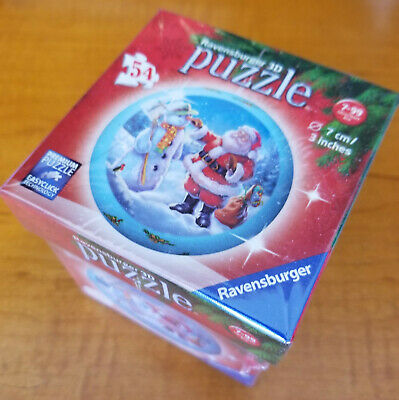 $19.54 • Buy Ravensburger Santa And Frosty The Snowman 3D 54pc Puzzleball Brand New/Sealed!