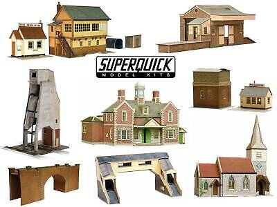 £14.67 • Buy SUPERQUICK 00 Gauge Model Building Card Kits 1:72 Scale Series A B And C
