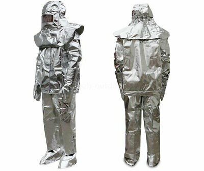 Men's Aluminized 1000°C Heat Insulation Suit Thermal Radiation Protect Work Wear • 159.99$