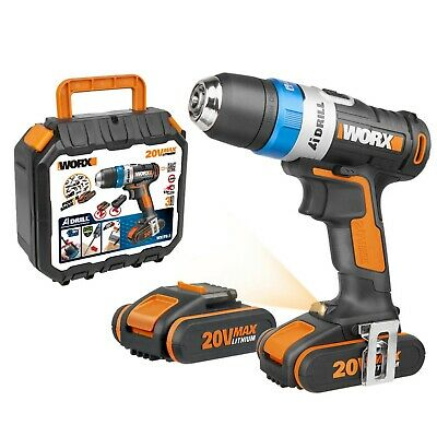 View Details WORX WX178.1 18V (20V MAX) AI Cordless Drill Driver With X2 2.0Ah Batteries • 199.99£