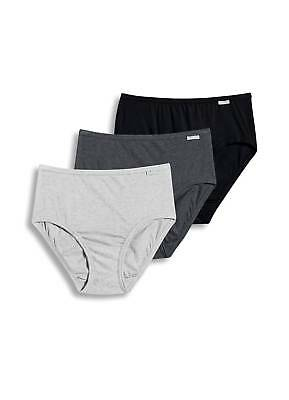 $16.99 • Buy Jockey Womens Plus Size Elance Hipster 3 Pack Underwear Hipsters 100% Cotton