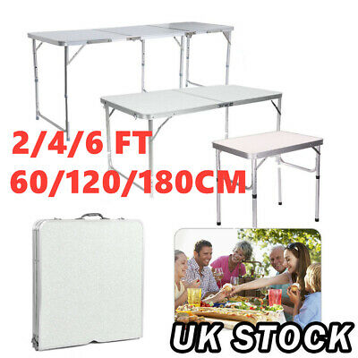 2/4/6FT Folding Table Catering Camping Desk Wedding Party Garden BBQ Display Set • 29.99£