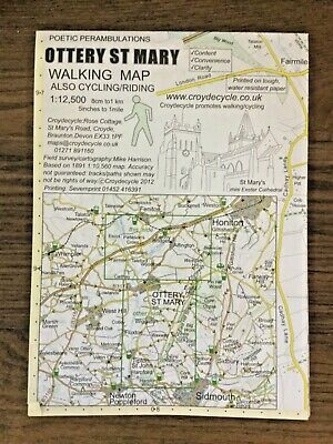 £3 • Buy Ottery St Mary Walking Map Also Cycling & Riding