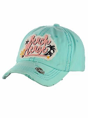 Ceci® Womens Baseball Cap Distressed Vintage Unconstructed Embroidered Dad Hat • 10.63£