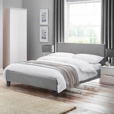£169.99 • Buy Grey Fabric Bed, Rialto Low Foot End Bed With 3 Size And 4 Mattress Options