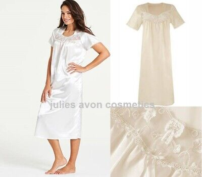 Cream Satin & Lace Nightdress Nightie L44  ~ Simply Be  ~ Choose Your Size • 10.99£
