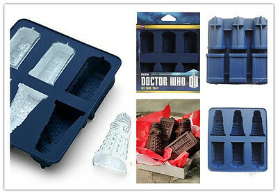 Doctor Who Ice Cube Tray Dalek Silicone Ice Cube Baking Candy Mold UK* • 6.95£