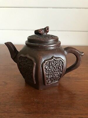 AU60 • Buy Vintage Authentic Chinese Small Yixing Clay Teapot Stamped To Base