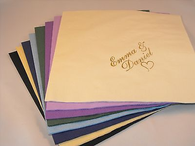 £14.99 • Buy 50 X Personalised (Design Your Own Image) Luxury 3 Ply Wedding  Napkins
