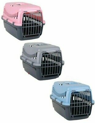 Pet Dog Puppy Cat Carriers Basket Bag Cage Portable Travel Kennel Box Vet W/Door • 10.99£