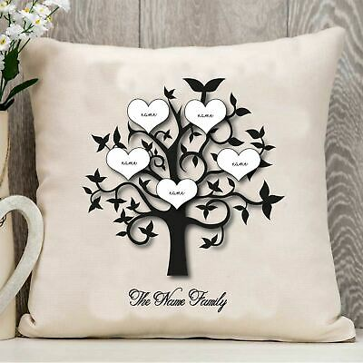 £7.75 • Buy Personalised Mum Family Tree Mothers Day Love Cushion Pillow Text Mom Mummy Gift