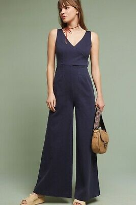 a74aed70de Anthropologie Chino Women s Navy Wide Leg Jumpsuit  138 • 39.99