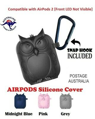 AU7.95 • Buy Apple Airpods 1 & 2 Silicone Protective Cover -Owl Shaped Case Slim Skin-Durable