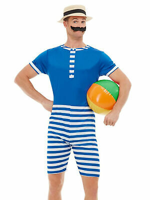 £20.95 • Buy Mens 20s Bathing Suit Costume Swimming Beach Victorian Outfit Fancy Dress Stag