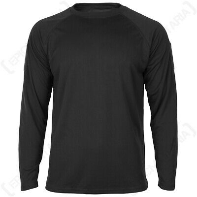 Quickdry Long Sleeve T-Shirt - Black Sports Base Under Layer New • 14.45£
