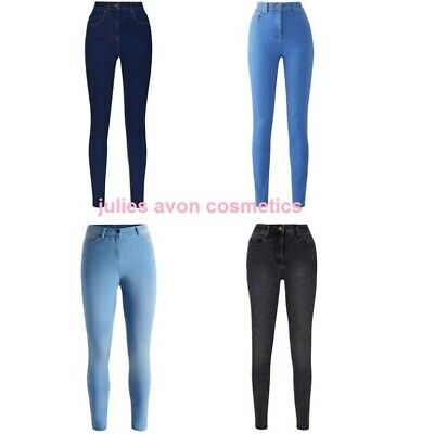 High Waist Soft Stretch Skinny Jeans From Simply Be ~ Choose Plus Size & Colour • 12.99£