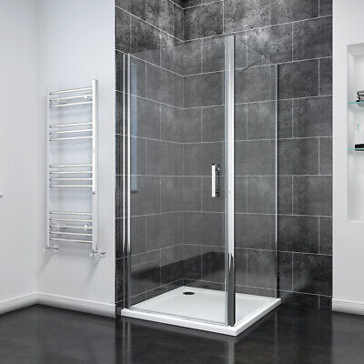 £161.99 • Buy Frameless Pivot Shower Door Enclosure And Tray Reversible Glass Screen Cubicle