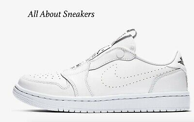 superior quality 2bd82 7af34 Air Jordan 1 Retro Low Slip White Black Women s Trainers Limited Stock •  152.43€