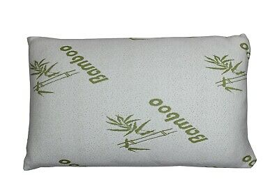 Anti Bacterial Bamboo Memory Foam Pillow Orthopaedic Firm Head Neck Back Support • 11.99£