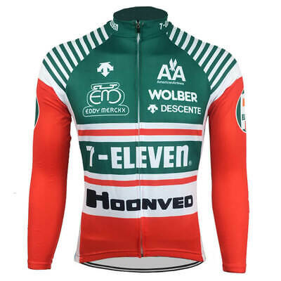 AU45 • Buy Brand New Team 7-Eleven Winter Fleece Jersey Cycling Jersey Eddy Merckx