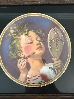 """$ CDN12.52 • Buy Norman Rockwell Plates Rediscovered Women """"Making Believe At The Mirror"""""""