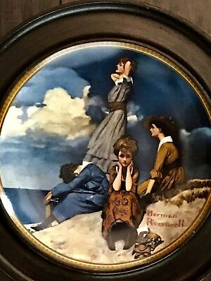 """$ CDN12.52 • Buy Norman Rockwell Collector Plates Rediscovered Women """"Waiting On The Shore"""""""