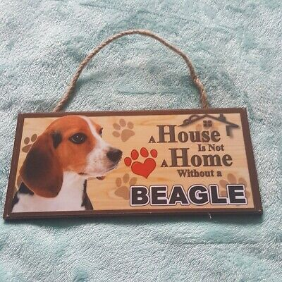 Beagle Dog Plaque Hanging Sign Great Gift Fast Dispatch Uk Seller • 8.95£