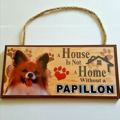 £7.95 • Buy Papillon Dog Plaque Hanging Sign Great Gift Fast Dispatch Uk Seller