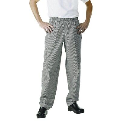 Chef Works Unisex Easyfit Chefs Trousers - Small Black Check Size SMALL • 18.95£