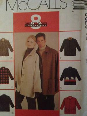 £6.75 • Buy McCalls Sewing Pattern 9020 Unisex Ladies Mens Unlined Jacket Size 38-40 UC