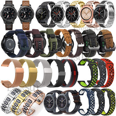 AU7.72 • Buy For Samsung Galaxy Watch Active 2 Silicone Leather Stainless Band Bracelet Strap