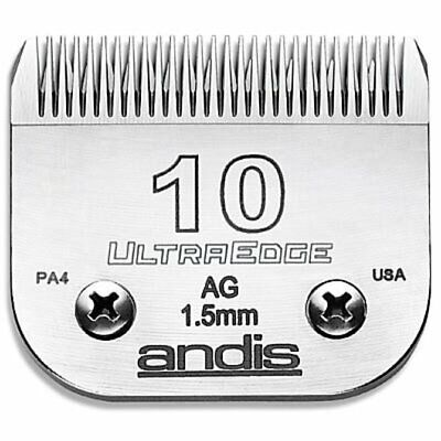 Andis UltraEdge Pet Grooming A5 Type Snap On Clipper Blade - No. 10 • 28.50£