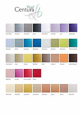 A4 Centura Pearl Pearlescent Shimmer Card, Single Sided & Double Sided DEAL SALE • 3.25£