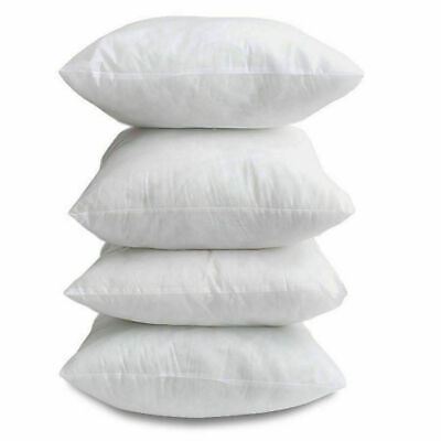 £7.99 • Buy 18  X 18  Inch Square Cushion Inner Pads OVER FILLED Set Of 4 Non Allergenic