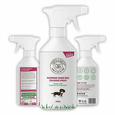 Pupreme Perfume Spray For Dogs - Best Organic Natural Citrus Eucalyptus 250ml • 9.99£