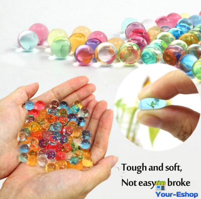 AU4.48 • Buy 50000x Crystal Water Balls Jelly Gel Beads For Vases Orbeez Multi Color Deko