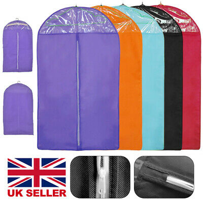 £4.99 • Buy 5x Pack Suit Cover Clothes Bag Breathable Garment Travel Storage Bags UK