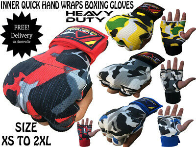 AU10.50 • Buy NEW CAMO INNER First Gel Bandages MMA Boxing Inner Quick Hand Wraps Gloves Strap