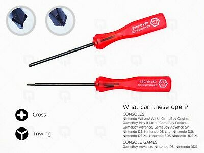 Tri Wing Cross Screwdriver For DS DSi GameBoy Wii Nintendo Tool GBA SP 3DS XL U • 2.99£