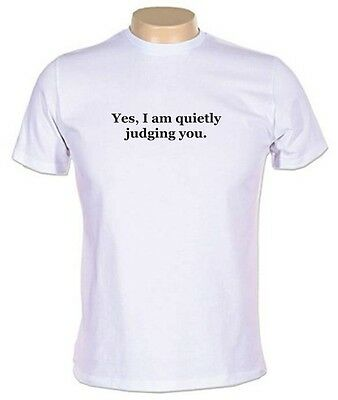 Yes, I Am Quietly Judging You T-SHIRT Cool Funny Retro T-shirts MENS GUYS NEW • 17.16£