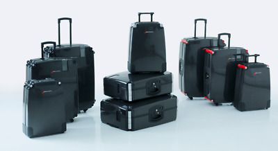 Swiss Luggage Carbon Fibre 77 Suitcase , Red Elegance -  Retail $1990 • 644.02£