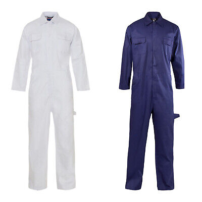£19.99 • Buy Mens Poly Cotton Coverall Workwear Welder Mechanic Overall Boiler Suit Plus Size