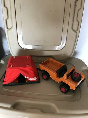 Vintage Fisher Price 304 Safari Land Rover And Tent • 14.27£