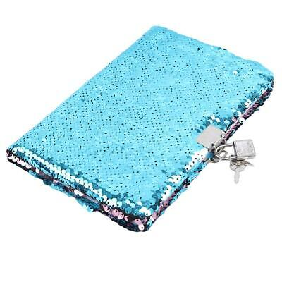 £7.33 • Buy Stylish Sequins Password Notebook Diary Book Diary Journal Lockable With Lock T