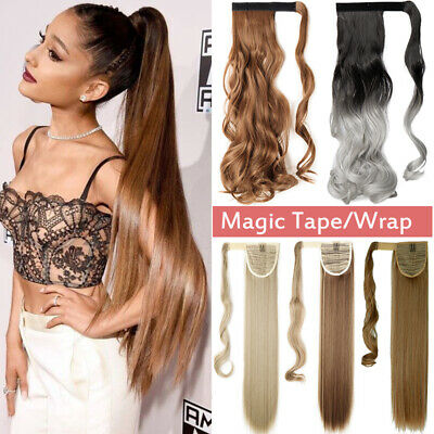 £9 • Buy Mega Long Clip In Ponytail Hair Extensions Extention Natural As Human Straight