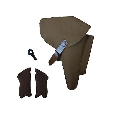 Canvas Holster W/Take Tool & Hand Grips For WW2 Luger P08 (DAK) Reproduction P33 • 43.19£