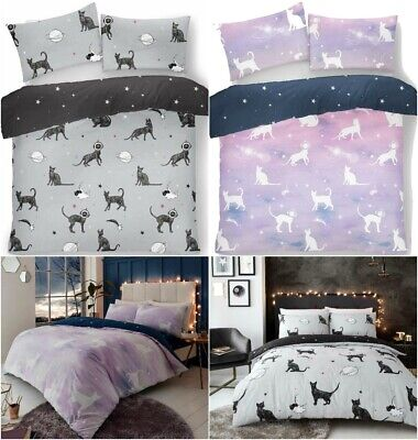 Astro Cat Luxurious Modern Style Duvet Cover Set Quilt Cover Set Bedding Sets GC • 13.99£
