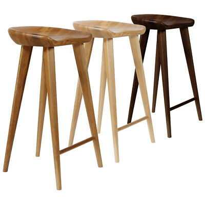 AU551.92 • Buy New! Modern Carved Wood Barstool - 30  Contemporary Bar/counter Tractor Stool