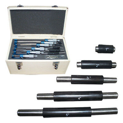 $150.50 • Buy 0-6  Precision Outside Micrometer Set 0.0001  Carbide Standards 6 PC Set New